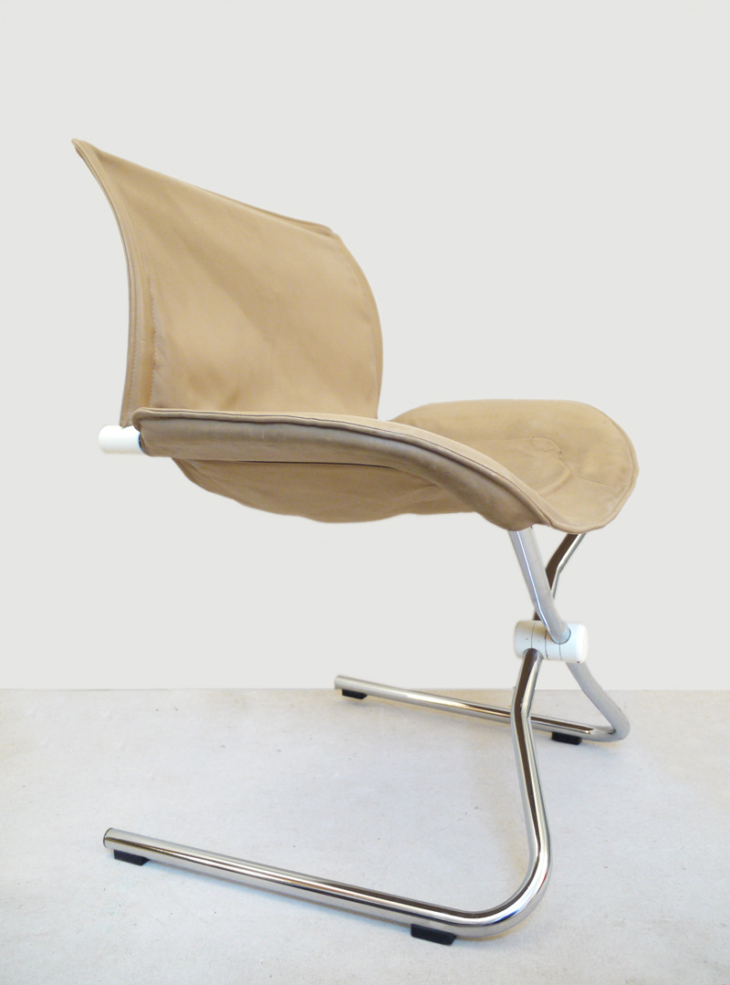 Folding Rocking SWIVEL CHAIR Leather «Faltschwinger» by ...