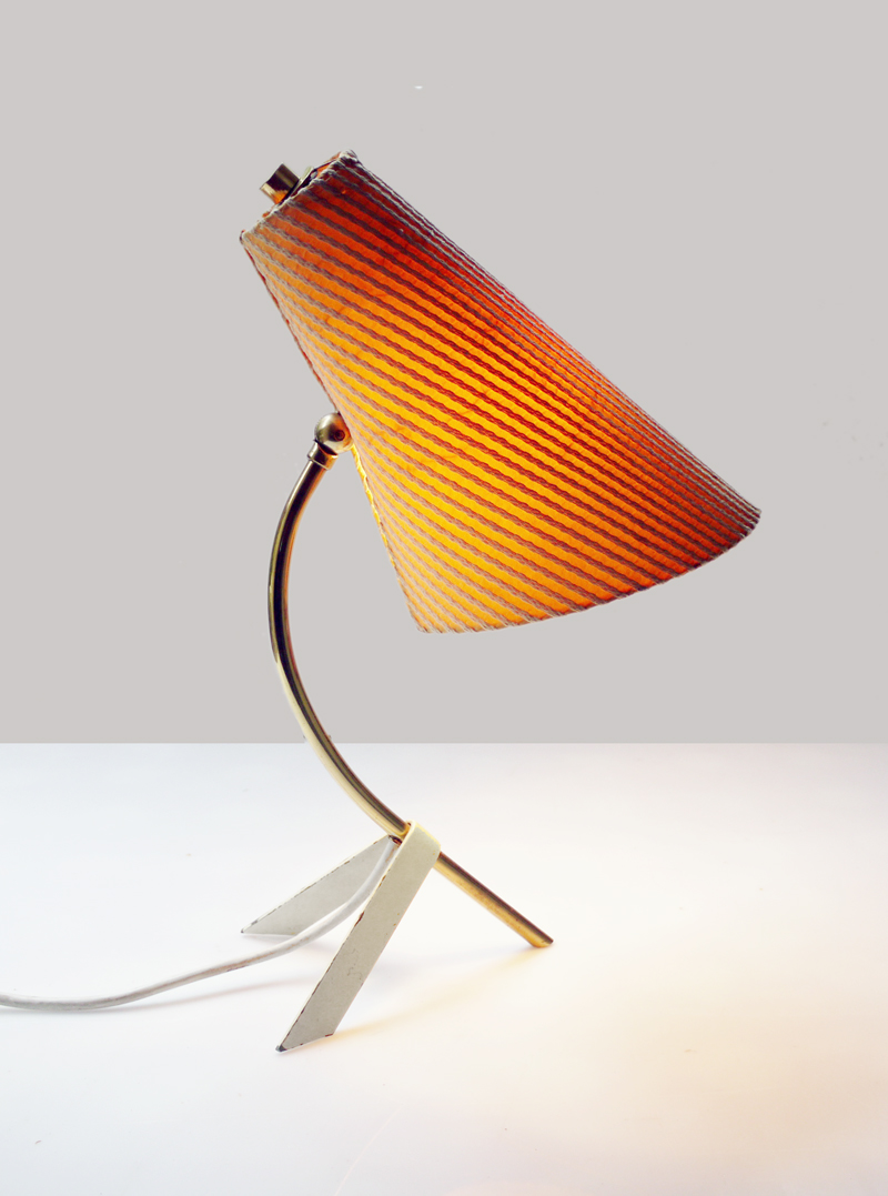 Mid century modern reproduction tripod table lamp - Original Mid Century Modernist Tripod Desk Table Lamp