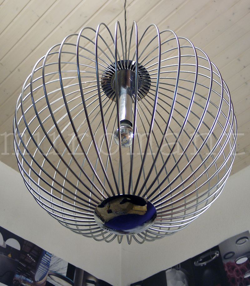 XXL STRING CHANDELIER Chrome Pendant Lamp SPHERICAL